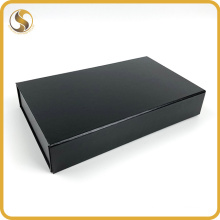 Custom Luxury Black Cardboard Packaging Foldable Collapsible Rigid Paper Gift Box with Magnetic Lid Closure
