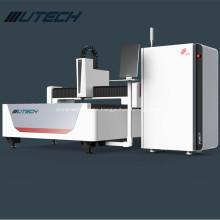 Máquina de corte por láser de fibra 1000w con accesorio giratorio