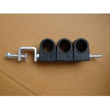 Torres Abrazaderas de cable Tipo doble Abrazadera de alimentador de RF 4 Vías