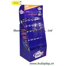 Chinese Factory Whole Sale Papier Display-Ständer mit Haken für Computer-Teile mit SGS (B & C-B008)