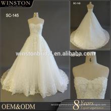 Guangzhou Fournisseur robes de mariée sans bretelles