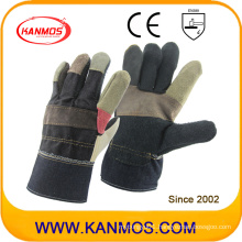 Sale Rainbow Furniture Cowhide Leather Industrial Hand Safety Work Gloves (310081)