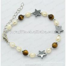 """Bracelet à perles magnétiques à l'hématite Tigereye 7.25 """""""