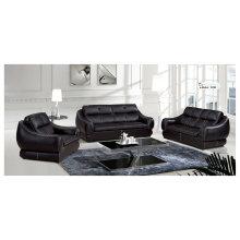 Черный цвет диван, кожаный диван, современный диван (1209)