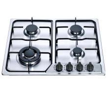 Cocina de gas incorporada del acero inoxidable del precio barato de 4 hornillas, estufa de gas