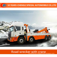 6*4 Flatbed Tow Truck with Crane Road Wrecker with Crane