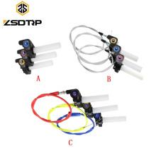 Apretón universal de la manija del acelerador de la motocicleta del CNC del plástico para la motocicleta con el cable del acelerador para CBR GSXR CBF