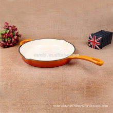 Cast Iron Enamel non-stick skillet with two oil mouth