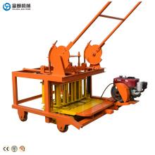 QTF40-3D pas cher Portable manuel petit bloc de briques de béton exploité à la main faisant la liste des prix de la machine