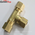 GutenTop High Quality Brass brass compression fitting equal tee for pex al pex pipe