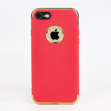 2017 newest electroplate color with PU leather phone case for iphone 7