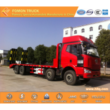 FAW 8x4 construction machinery transport truck
