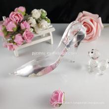 Dames de verre cristal haut talon chaussures figurine favorise GCG-042