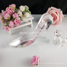 Cristal de vidro senhoras hight calcanhar sapatos estatueta favores GCG-042