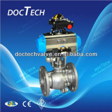 3-PC Flange Ball Valve With Pneumatic Actuator