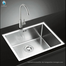 Fabrik Preis Top Mount Drop-In SUS304 Edelstahl Single Bowl Spülbecken