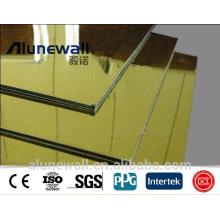 Alufenew SGS Zertifikat Mirror Finish feuerfeste Aluminium-Verbundplatte ACP Aluminium-Bindung