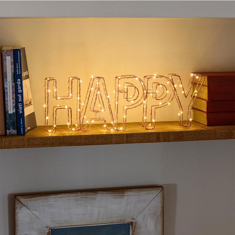 Letter led metal light