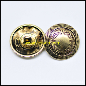 With Folwer Parttern Shank button with Black Oil