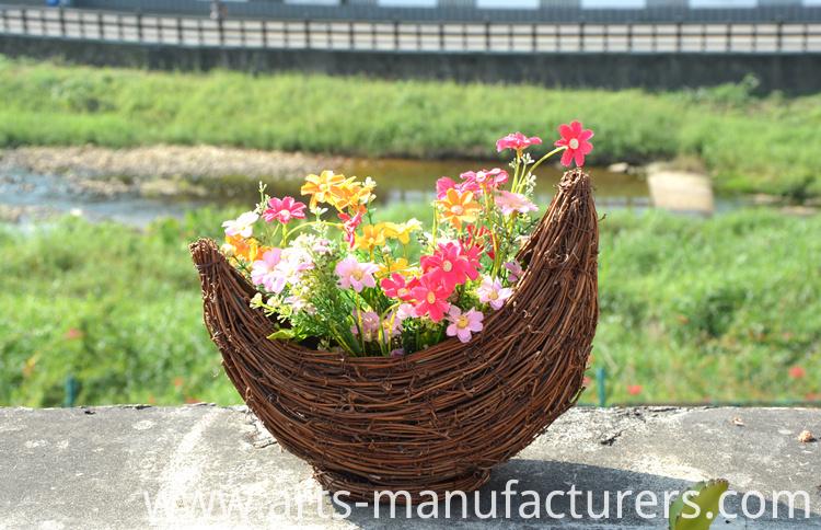 rattan flower pot