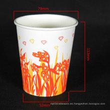 Taza de café caliente de una sola pared desechable personalizable