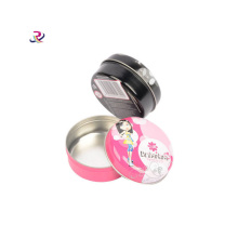 Pequeño Round Make Up Metal Tin Box