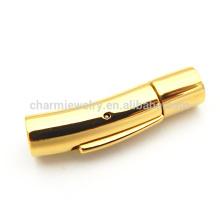 BX114 Vente en gros de bijoux trouvaille d'or Serrure à fermoir magnétique en acier pour bracelet en corde collier