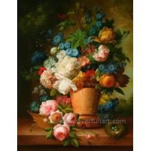 Pintura a óleo decorativa da flor abstrata moderna