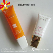 Tubo oval plástico embalagem cosmética