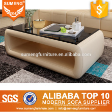 SUMENG fancy design base glass coffee table for hotel furniture