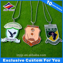 Die cast hard enamel different color personlized dog tag for people