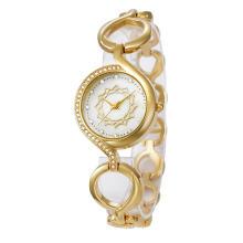 Nuevo reloj del vestido de la manera del diamante del diamante del metal