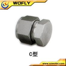 Rostfreier Stahlrohr Montagebügel Steckerverschraubung