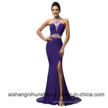 Sexy Sheath Mermaid Purple Prom Dresses
