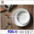 Striped baking ceramic cheap porcelain ramekins plates and cutlery wholesale