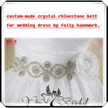 AC-2 Custom Made Beautiful Sash Crystal Rhinestone Belt For Wedding Dress