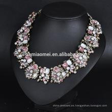 Collar 2017 de joyas, 14k Collar de diamante americano plateado, Collar de borla