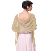 Kate Kasin Stock Chiffon Bridal Evening Dress Shawls Scarves Scarf Wrap Neckerchief KK000229-10