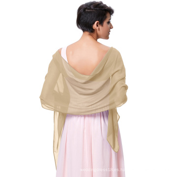 Kate Kasin Stock vestido de noche de gasa nupcial bufandas Bufandas Bufanda Envuelva Pañuelo KK000229-10