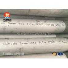 Tubulação sem emenda de aço duplex ASTM A789 UNS S31500