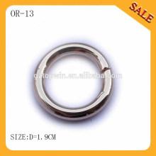 OR13 Silberfarbener Metall O Ring für Tasche
