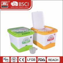 caixa de armazenamento para casa plástica, caixa do arroz, escaninho de armazenamento de arroz
