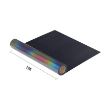 heat transfer reflective film New Colored Rainbow Reflective Fabric Polyester fabric for Fashion Clothing or Jacket