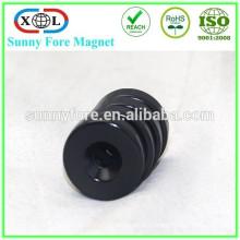Черный эпоксидной магнит с отверстие для винта