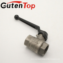 """1/4""""-4"""" Lead Free Iron Black Lever Handle Forged Full Port Brass Ball Valve"""