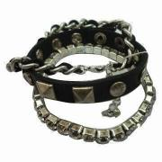 Black Fashion Acrylic Bracelet, Easy to Wear, Made of Acrylic, Available in Various Designs