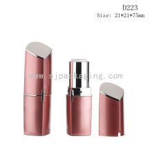 D223 Personalizado plástico vermelho batom tubo vazio recipiente