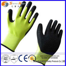 13 gauge nylon shell crinkle latex coated glove