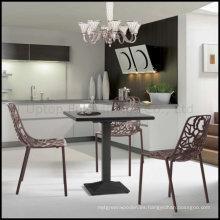 Moderna silla de café de aluminio perforado exterior (SP-MC058)
