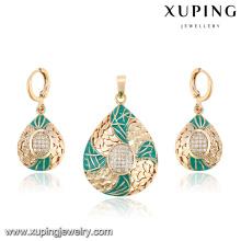 64013-luxury jewelry 18k gold afrikanische luxus-sets für die hochzeit